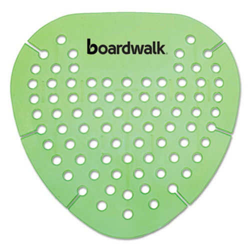 Boardwalk Gem Urinal Screen  Lasts 30 Days  Green  Herbal Mint Fragrance  12 Box (BWKGEMHMI)