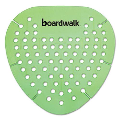 Boardwalk Gem Urinal Screen  Lasts 30 Days  Green  Herbal Mint Fragrance  12 Box (BWKGEMHMI)