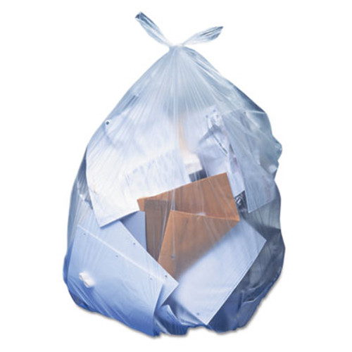Heritage Low-Density Can Liners, 60 gal, 1.1 mil, 38 x 58, Clear, 100/Carton (HERH7658SC)