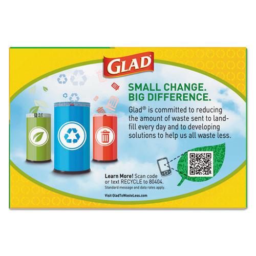 Glad Tall Kitchen Blue Recycling Bags  13 gal  0 9 mil  27 38  x 24   Translucent Blue  45 Box (CLO78542BX)