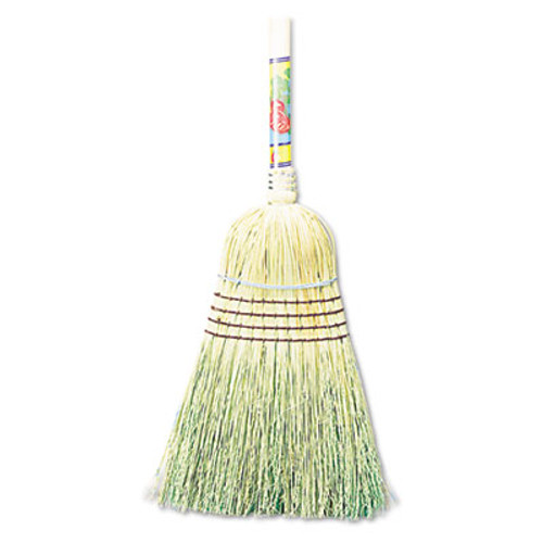 Boardwalk Warehouse Broom  Corn Fiber Bristles  56  Overall Length  Natural  12 Carton (BWK932CCT)