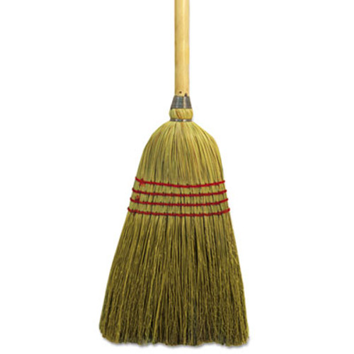 Boardwalk Maid Broom  Mixed Fiber Bristles  55  Long  Natural  12 Carton (BWK920YCT)