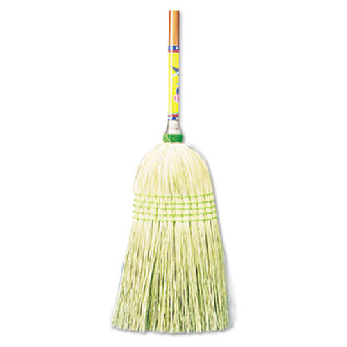 "Boardwalk Parlor Broom, Corn Fiber Bristles, 42"" Wood Handle, Natural, 12/Carton (BWK926CCT)"