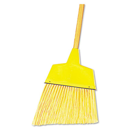 Boardwalk Angler Broom  Plastic Bristles  53  Wood Handle  Yellow  12 Carton (BWK932ACT)