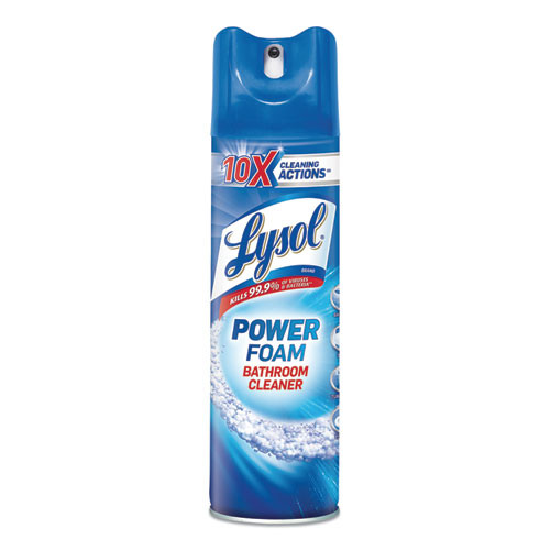 LYSOL Brand Power Foam Bathroom Cleaner  24oz Aerosol  12 Carton (RAC02569CT)