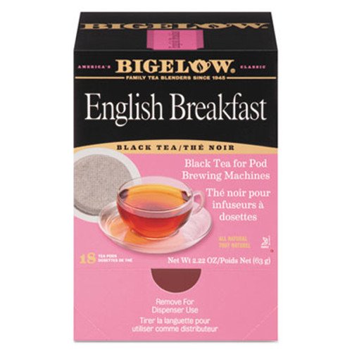 Bigelow English Breakfast Tea Pods  1 90 oz  18 Box (BTC009906)