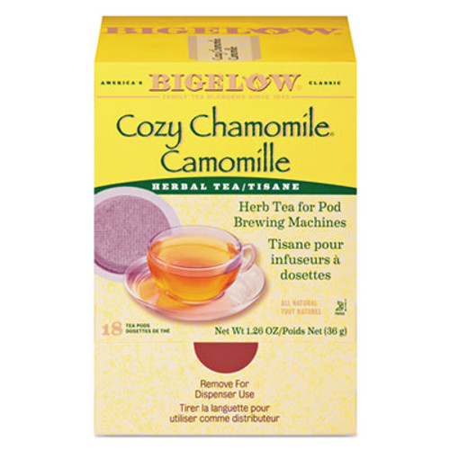 Bigelow Cozy Chamomile Herbal Tea Pods  1 90 oz  18 Box (BTC10906)