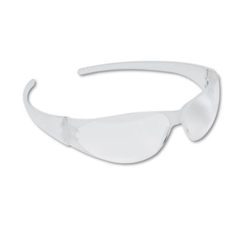 MCR Safety Checkmate Wraparound Safety Glasses  CLR Polycarb Frm  Uncoated CLR Lens  12 Box (CRWCK100)