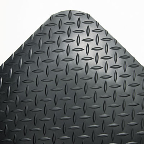 Crown Industrial Deck Plate Anti-Fatigue Mat  Vinyl  36 x 144  Black (CWNCD0312DB)