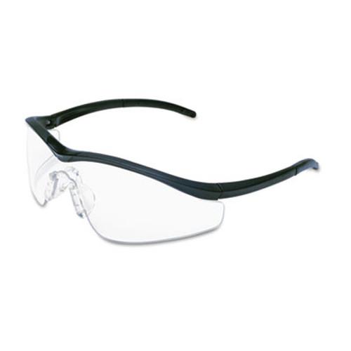 MCR Safety Triwear Onyx Frame  Clear AntiFog Lens  Black Cord (CRWT1110AF)