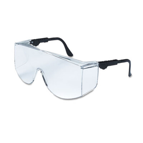 MCR Safety Tacoma Wraparound Safety Glasses  Black Frames  Clear Lenses (CRWTC110XL)