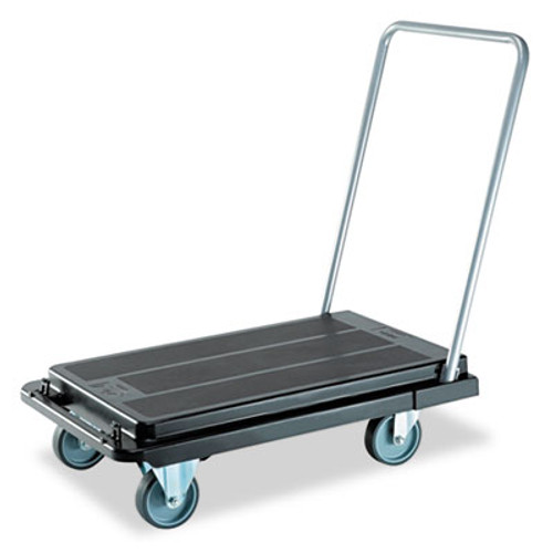 deflecto Heavy-Duty Platform Cart  500 lb Capacity  21 x 32 5 x 37 5  Black (DEFCRT550004)