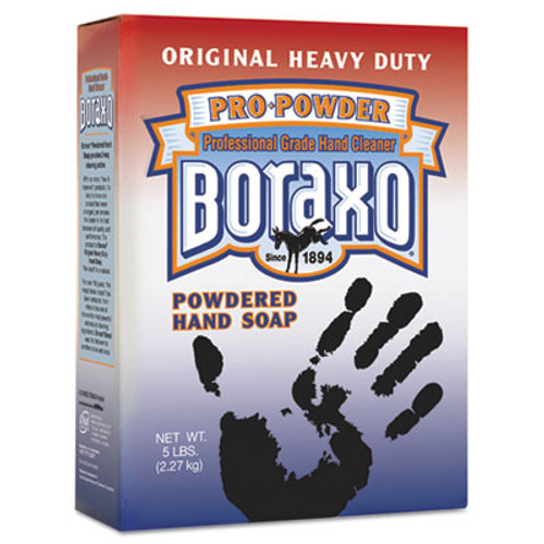 Boraxo Original Powdered Hand Soap, Unscented Powder, 5lb Box (DIA02203EA)