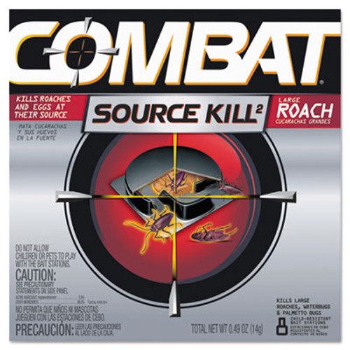 Combat Source Kill Large Roach Killing System  Child-Resistant Disc  8 Box (DIA41913)