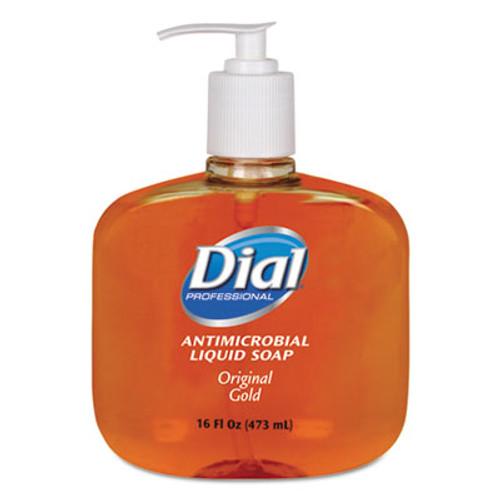 Dial Professional Gold Antimicrobial Liquid Hand Soap, Floral Fragrance, 16oz Pump Bottle (DIA80790EA)