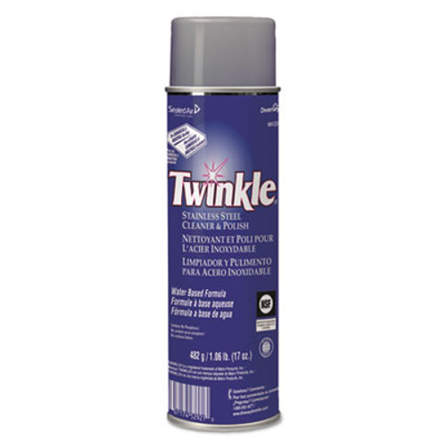 Twinkle Stainless Steel Cleaner & Polish, 17oz Aerosol (DVO991224EA)