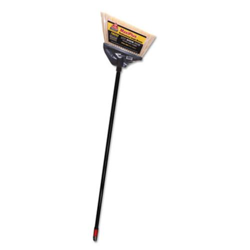O-Cedar Commercial MaxiPlus Professional Angle Broom  Polystyrene Bristles  51  Handle  Black (DVO91351EA)