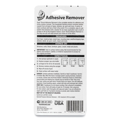 Duck Adhesive Remover  5 45 oz Spray Bottle  Orange Scent (DUC000156001)