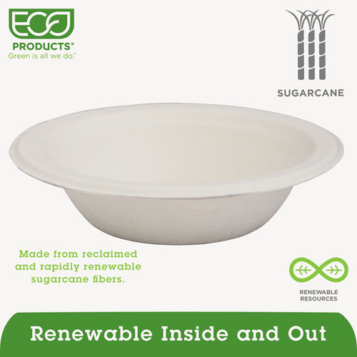 Eco-Products Renewable   Compostable Sugarcane Bowls - 12oz   50 PK (ECOEPBL12PK)