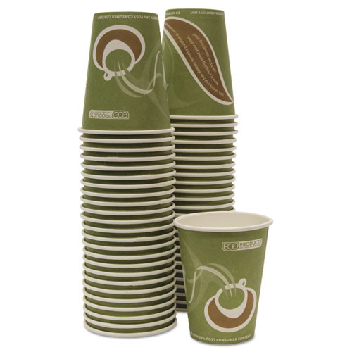 Eco-Products Evolution World 24  Recycled Content Hot Cups Convenience Pack - 12oz   50 PK (ECOEPBRHC12EWPK)