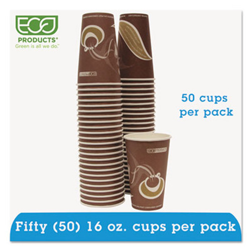 Eco-Products Evolution World 24  Recycled Content Hot Cups Convenience Pack - 16oz   50 PK (ECOEPBRHC16EWPK)