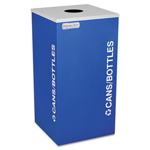 Ex-Cell Kaleidoscope Collection Bottle Can-Recycling Receptacle  24 gal  Royal Blue (EXCRCKDSQCRYX)