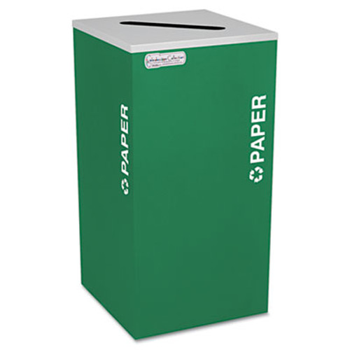 Ex-Cell Kaleidoscope Collection Recycling Receptacle, 24gal, Emerald Green (EXCRCKDSQPEGX)