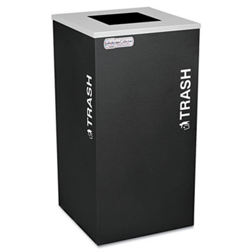 Ex-Cell Kaleidoscope Collection Trash Receptacle  24 gal  Black (EXCRCKDSQTBLX)