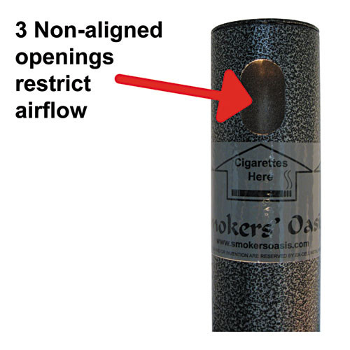 Ex-Cell Smokers' Oasis Receptacle  Round  Steel  4 5 gal  Charcoal (EXCSRS1HCCL)