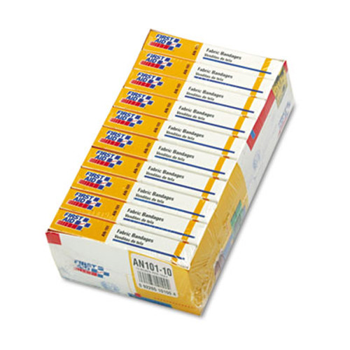 """First Aid Only First-Aid Refill Fabric Adhesive Bandages, 1"""" x 3"""", 160/Pack (FAOAN101)"""