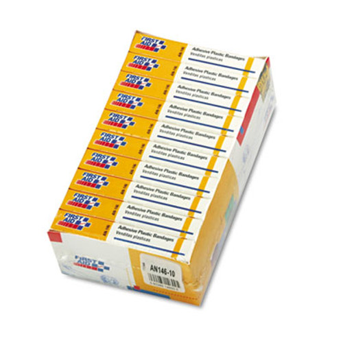 """First Aid Only Plastic Adhesive Bandages, 1"""" x 3"""", 160/Pack (FAOAN146)"""