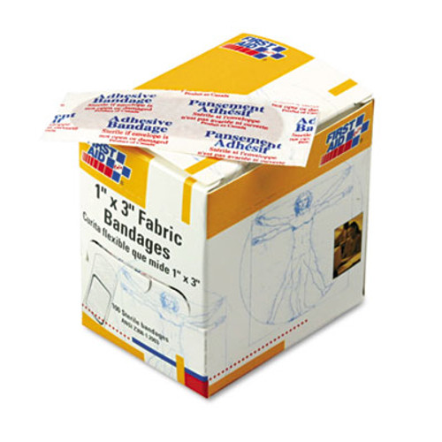 """First Aid Only Fabric Bandages, 1"""" x 3"""", 100/Box (FAOG122)"""
