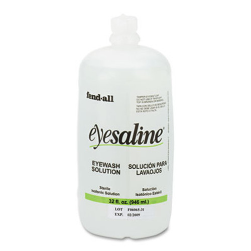 Honeywell Fendall Eyesaline Eyewash Saline Solution Bottle Refill  32 oz (FND3200045500EA)
