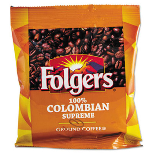 Folgers Coffee  100  Colombian  Ground  1 75oz Fraction Pack  42 Carton (FOL06451)