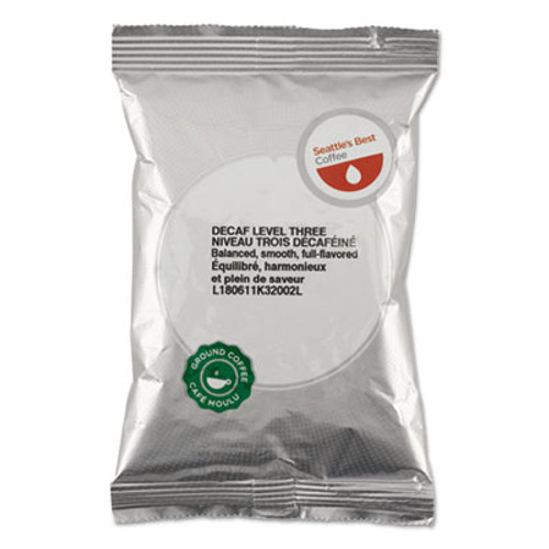 Seattle's Best Premeasured Coffee Packs  Decaf Portside Blend  2 oz Packet  18 Box (SEA11008554)