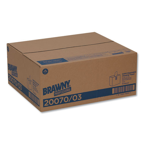Georgia Pacific Professional Medium-Duty Premium Wipes  9 1 4 x 16 3 8  White  90 Wipes Box  10 Boxes Carton (GPC2007003CT)