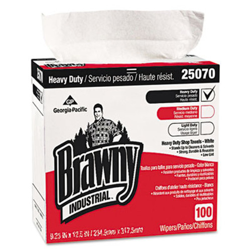 Georgia Pacific Professional Medium Weight HEF Shop Towels  9 1 8 x 16 1 2  100 Box  5 Boxes Carton (GPC25070CT)