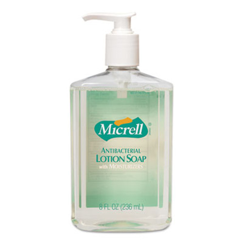 GOJO MICRELL Antibacterial Lotion Soap, Light Scent, 8oz Pump (GOJ975212EA)