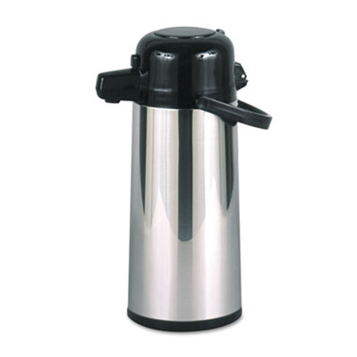 Hormel Commercial Grade 2 2L Airpot  w Push-Button Pump  Stainless Steel Black (HORPAE22B)