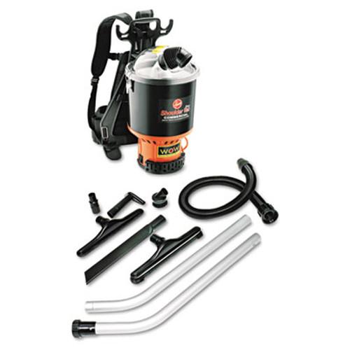 Hoover Commercial Backpack Vacuum  9 2lb  Black (HVRC2401)