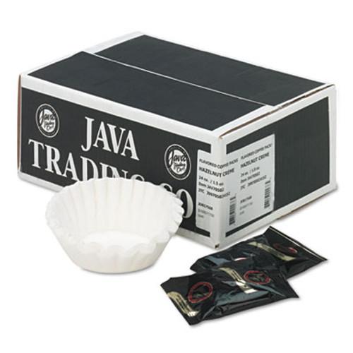 Distant Lands Coffee Coffee Portion Packs  1 5oz Packs  Hazelnut Creme  24 Carton (JAV705024)