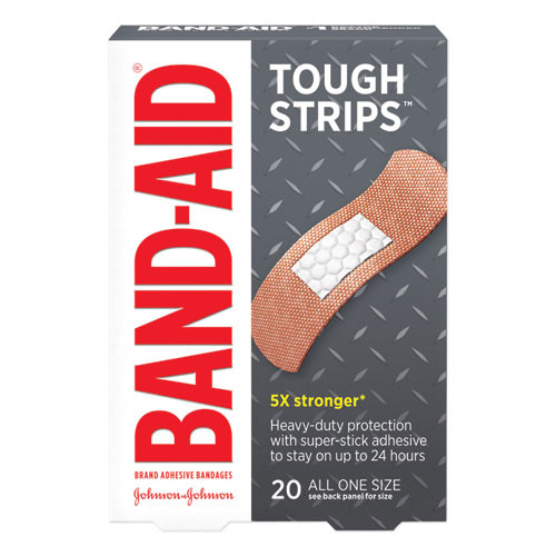 BAND-AID Flexible Fabric Adhesive Tough Strip Bandages  1  x 3 25   20 Box (JOJ4408)