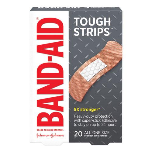 BAND-AID Flexible Fabric Adhesive Tough Strip Bandages  1  x 3 25   20 Box (JOJ4408)