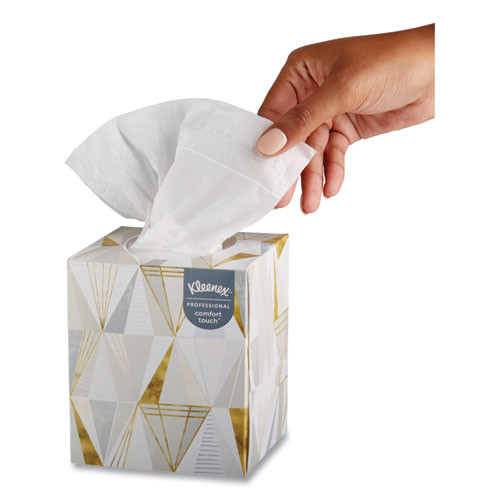 Kleenex Boutique White Facial Tissue  2-Ply  Pop-Up Box  95 Sheets Box  3 Boxes Pack (KCC21200)
