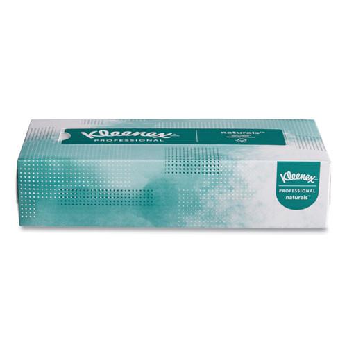 Kleenex Naturals Facial Tissue  2-Ply  White  125 Sheets Box  48 Boxes Carton (KCC21601)