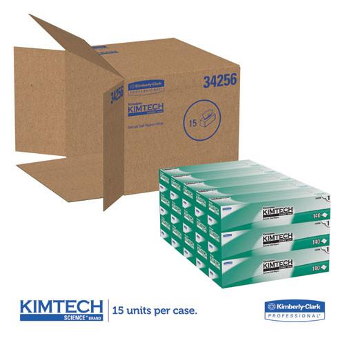 Kimtech Kimwipes Delicate Task Wipers  1-Ply  14 7 10 x 16 3 5  140 Box  15 Boxes Carton (KCC34256CT)