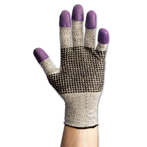 KleenGuard G60 Purple Nitrile Gloves  230 mm Length  Medium Size 8  Black White  Pair (KCC97431)