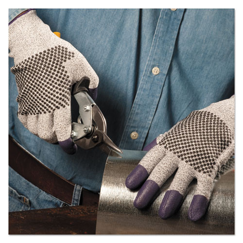 KleenGuard G60 Purple Nitrile Gloves  240 mm Length  Large Size 9  Black White  Pair (KCC97432)