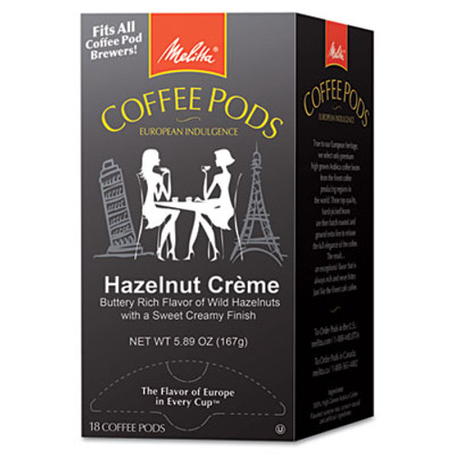 Melitta Coffee Pods  Hazelnut Cream  18 Pods Box (MLA75410)