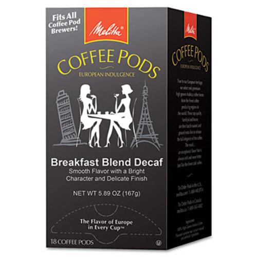 Melitta Coffee Pods  Breakfast Blend Decaf  18 Pods Box (MLA75413)